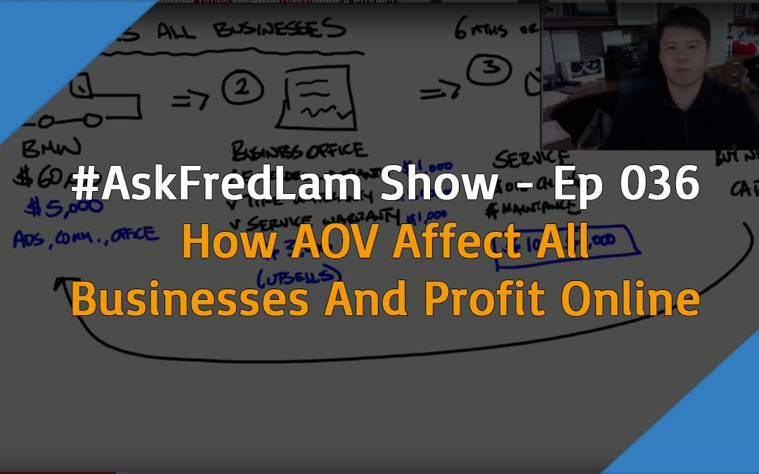 #AskFredLam Show – Episode 36 | How AOV Affects All Businesses Including Shopify Stores