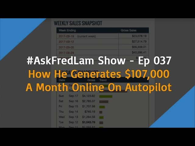 #AskFredLam Show – Episode 37 | $107k Per Month On Autopilot Training