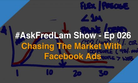 #AskFredLam Show – Episode 026 | Chasing The Market With Facebook Ads