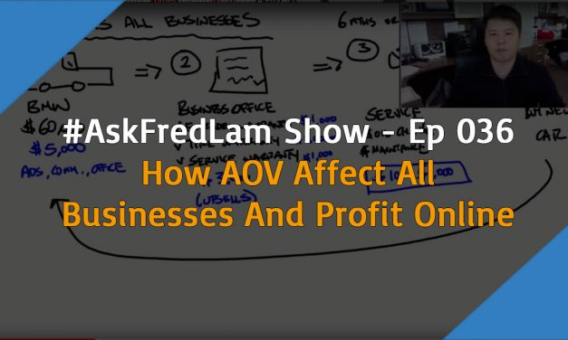 #AskFredLam Show – Episode 35 | How AOV Affects All Businesses Including Shopify Stores